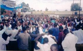 WINNING SOULS AT BUNGOMA TOWN BUS PARK WITH GBF TEAM