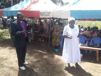 SISTER DORA AND BSP BUSHEBI AT GLADYS FUNERAL